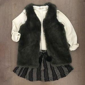 Zara Girls Stripe Mini Skirt